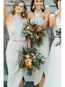 Sheath Halter Bridesmaid Dresses 99601497