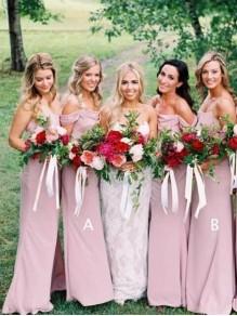 Sheath Spaghetti Straps Floor Length Bridesmaid Dresses 99601498