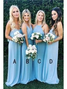 Sheath Long Chiffon Floor Length Bridesmaid Dresses 99601499