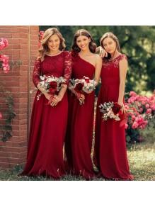 A-Line Long Chiffon Floor Length Bridesmaid Dresses 99601501