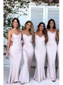 Sheath Spaghetti Straps Floor Length Bridesmaid Dresses 99601505