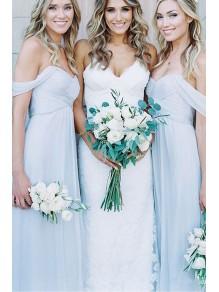A-Line Chiffon Off-the-Shoulder Floor Length Bridesmaid Dresses 99601506