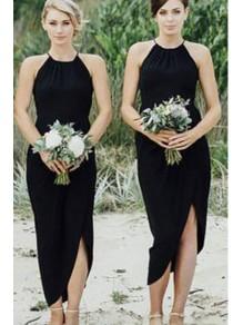 Sheath Black Bridesmaid Dresses 99601507