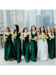 A-Line Long Chiffon Floor Length Bridesmaid Dresses 99601509