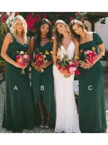 Long Green Floor Length Bridesmaid Dresses 99601512