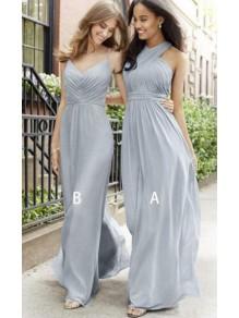A-Line Long Chiffon Floor Length Bridesmaid Dresses 99601515