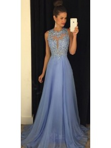 Beaded Chiffon Lace Long Prom Evening Formal Dresses 99602034