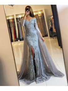 Mermaid Lace Long Prom Formal Evening Party Dresses 996021352