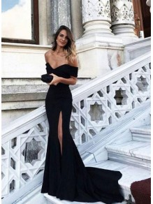 Mermaid Off-the-Shoulder Long Prom Formal Evening Dresses 996021534
