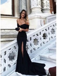 Mermaid Off-the-Shoulder Long Prom Formal Evening Dresses 996021534