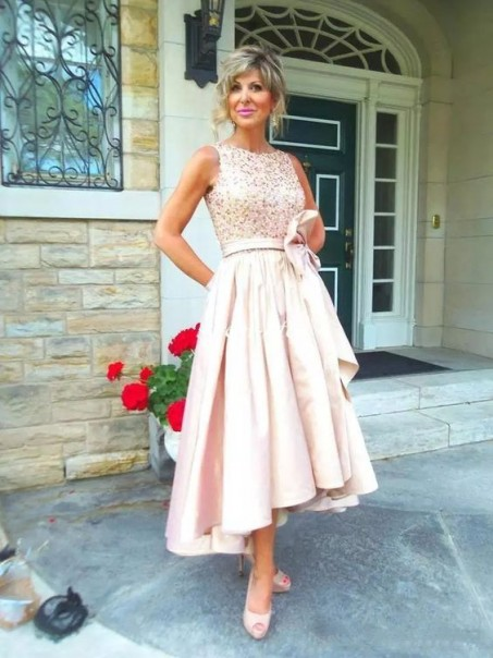 Elegant High Low Mother of The Bride Dresses Evening Gowns 99602849