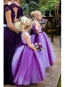 Cute Ball Gown Purple Flower Girl Dresses 99604001