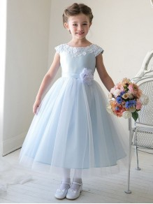 Cute Blue Flower Girl Dresses 99604007