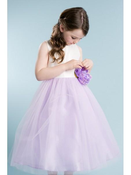 Lilac White Flower Girl Dresses 99604008