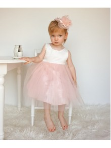 White Pink Flower Girl Dresses 99604010