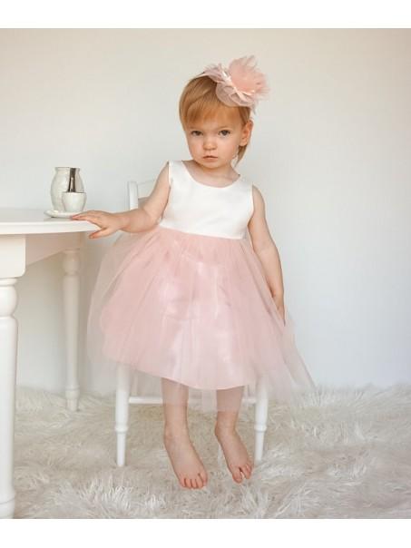 White Pink Flower Girl Dresses 99604010