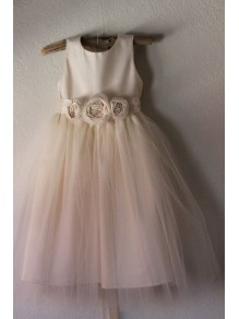 Tulle Satin Flower Girl Dresses 99604014