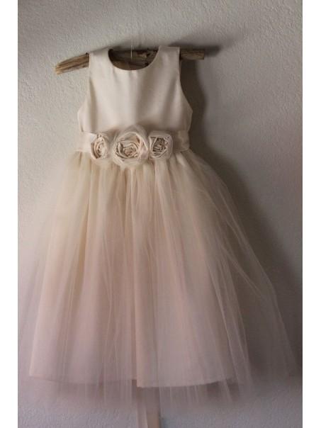 Tulle Satin Flower Girl Dresses 99604014