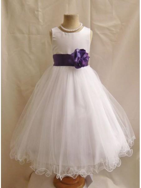 White Ball Gown Flower Girl Dresses 99604020