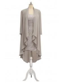 Sheath/Column Lace Chiffon Mother of The Bride Dresses 99605038