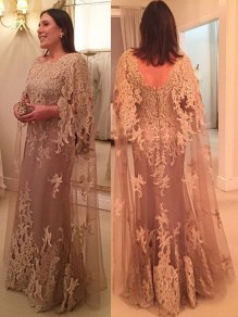 Long Lace Appliques Mother of The Bride Dresses Mother of The Groom Dresses 99605042