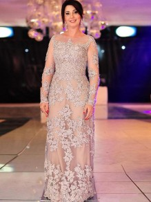 Long Sleeves Lace Mother of The Bride and Groom Dresses 99605057
