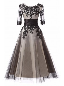 Lace Appliques and Tulle Mother of The Bride and Groom Dresses 99605069