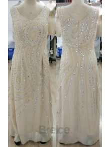 Long Sleeves Beaded Mother of The Bride Dresses 99605095