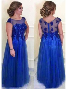 A-Line Tulle Mother of The Bride Dresses with Lace Appliques 99605136