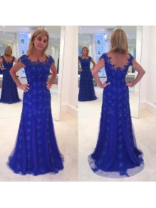 Elegant Long Mother of The Bride Dresses with Beads and Lace Appliques 99605138