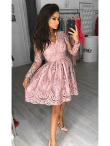 Short Prom Dress Long Sleeves Homecoming Dresses Graduation Party Dresses 99701017