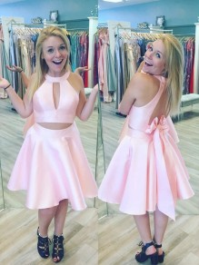 Short Pink Two Pieces Prom Dress Homecoming Dresses Graduation Party Dresses 99701019