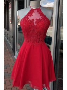 Short Red Beaded Lace Prom Dress Homecoming Dresses Graduation Party Dresses 99701029
