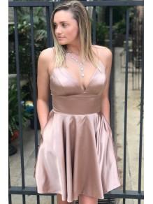 Short V-Neck Prom Dress Homecoming Dresses Graduation Party Dresses 99701034