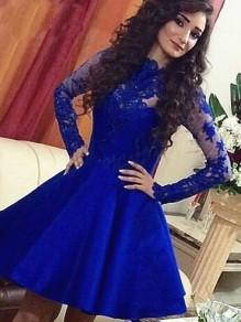 Short Prom Dress Long Sleeves Homecoming Dresses Graduation Party Dresses 99701047
