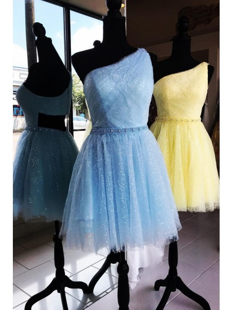 Short Sequins Tulle Prom Dress Homecoming Dresses Graduation Party Dresses 99701051
