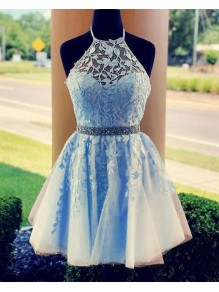 Short Beaded Lace Prom Dress Homecoming Dresses Graduation Party Dresses 99701053