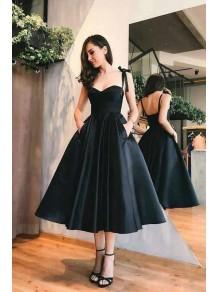 A-Line Black Prom Dress Homecoming Dresses Graduation Party Dresses 99701058