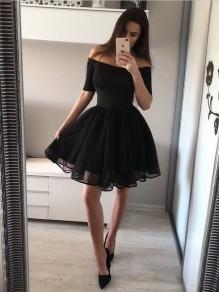 Short Black Prom Dress Homecoming Dresses Graduation Party Dresses 99701086