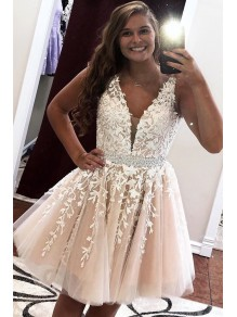 Short Beaded Lace Prom Dress Homecoming Graduation Cocktail Dresses 99701099