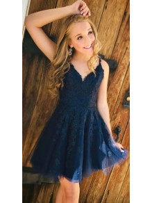 A-Line Lace Short Prom Dress Homecoming Graduation Cocktail Dresses 99701102
