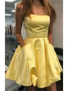 Short Yellow Prom Dress Homecoming Graduation Cocktail Dresses 99701104