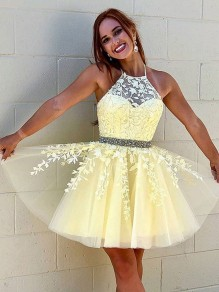 Short Beaded Lace Prom Dress Homecoming Graduation Cocktail Dresses 99701119