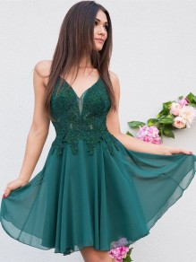 Short Beaded Lace Prom Dress Homecoming Graduation Cocktail Dresses 99701153