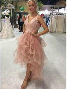 High Low Lace Prom Dress Homecoming Graduation Cocktail Dresses 99701184