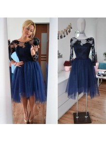 Short Lace Tulle Prom Dress Homecoming Graduation Cocktail Dresses 99701189