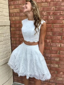 Short White Lace Prom Dress Homecoming Graduation Cocktail Dresses 99701205