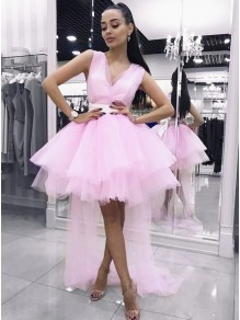 High Low Pink Prom Dress Homecoming Graduation Cocktail Dresses 99701214