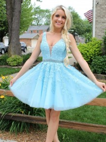 Short Beaded Lace Prom Dress Homecoming Graduation Cocktail Dresses 99701246