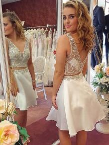 Short Beaded Prom Dress Homecoming Graduation Cocktail Dresses 99701263